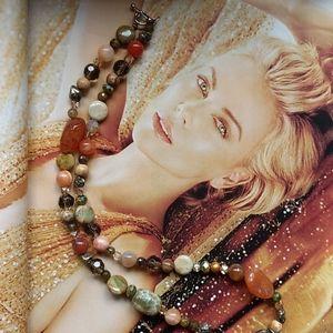Fancy facets necklace
